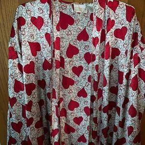 Victoria's Secret Silk Heart Robe